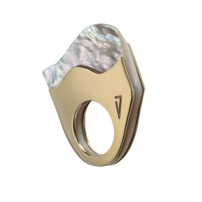 """""""MOTHER PEARL #1"""" RING"""