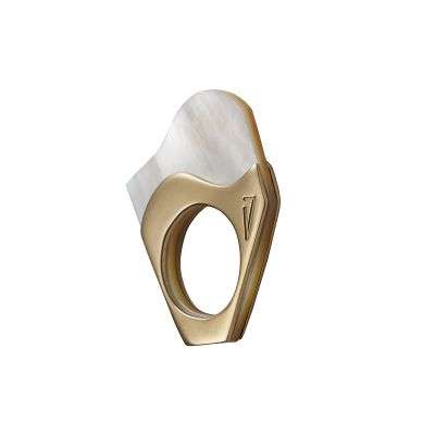 """""""MOTHER PEARL #5"""" RING"""